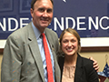 Chelsea Sincox with Rep. Olson