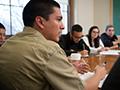 Kevin Cruz in classroom