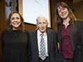 Martin Rees with Ann Druyan and Lisa Kaltenegger